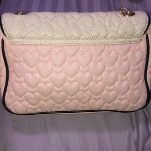 Betsey Johnson Bags - Betsey Johnson pink and off white purse